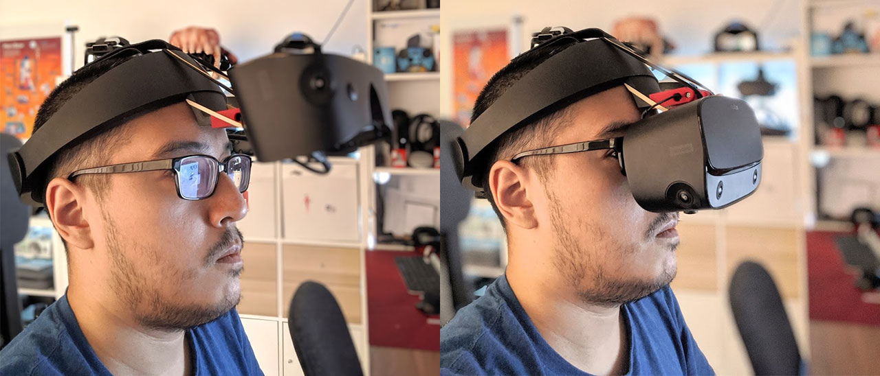 Designing a Flip-Up Hinge for Oculus Rift S